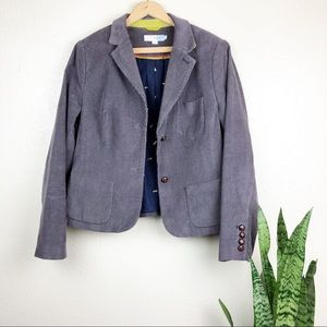 Boden Oxford Corduroy Gray Blazer Jacket